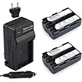 Newmowa NP-FM500H Battery (2-Pack) and Charger kit for Sony Alpha A58, A57, A65, A77, A99, A900, A700, A580, A560, A550, A850