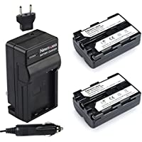 Newmowa NP-FM500H Battery (2-Pack) and Charger kit for Sony Alpha A58 A57 A65 A77 A99 A900 A700 A580 A560 A550 A850 Sony SLT a99 II