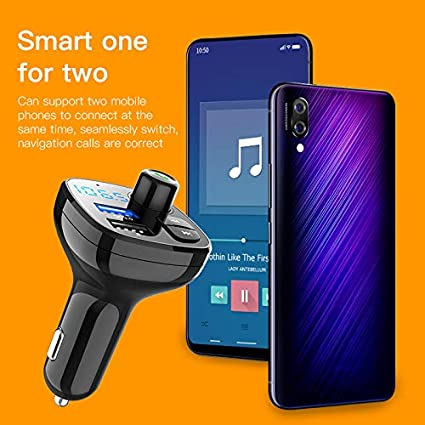 Bluetooth FM Transmitter for Car BEITESI Wireless in-Car Radio Transmitter Adapter Car Kit with USB Car Charger Car MP3 Music Player Support TF Card and USB Flash Drive BT16