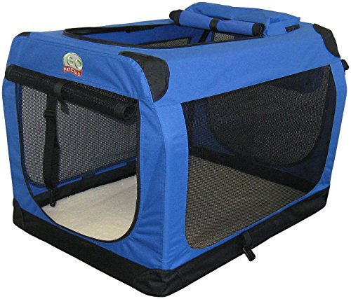 Go Pet Club Soft Crate for Pets, 48-Inch, Blue