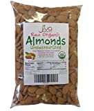 Jiva Organics Raw Unpasteurized Organic Almonds (Sproutable) 2 Pound Bag