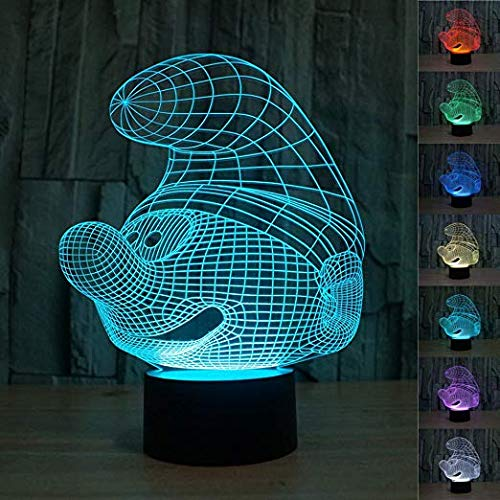 SUPERNIUDB Novelty Fairy Night Light 7 Color Change LED Table Lamp Xmas Toy Gift