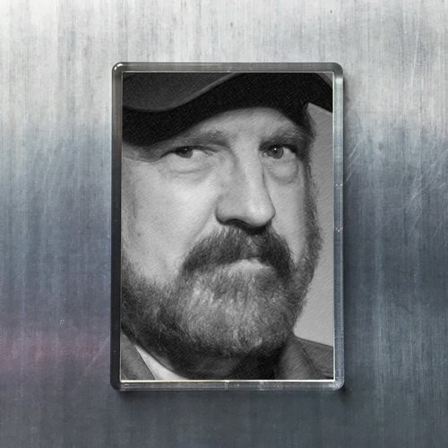 JIM BEAVER - Original Art Fridge Magnet #js001