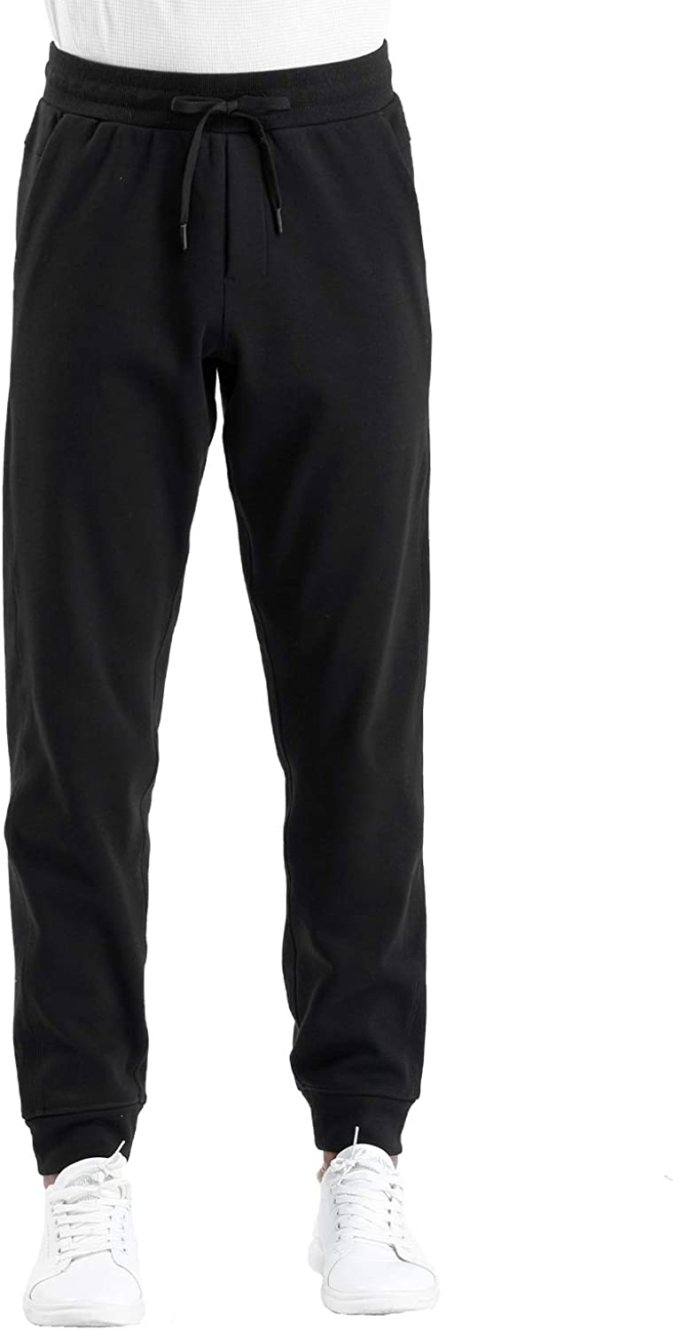 Running Training THE GYM PEOPLE Mens Fleece Joggers Pants with Deep Pockets Athletic Loose-fit Sweatpants for Workout