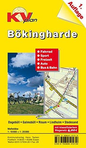 Bökingharde: 1:10.000 Dagebüll, Risum und Lindholm. Amtsplan mit Freizeitkarte 1:25.000 Radrouten und öffentlichem Nahverkehr, Mit Niebüll (KVplan Schleswig-Holstein-Region)