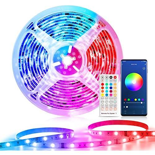 chollos oferta descuentos barato WiFi Tira LED Alexa Etersky Luces LED Habitacion 10M Tiras LED RGB Interior Compatible con Alexa y Google Home Wifi Tira LED Musica Control Remoto para Fiesta Hogar Decoración Solo 2 4G WiFi