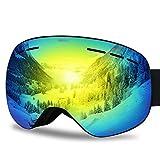 G4Free Ski Snowboard Goggles Over Glasses for Men Women-Magnetic Lens System Anti-Fog Frameless