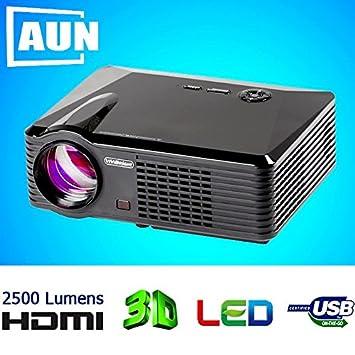 ARBUYSHOP proyector LED 2500 lúmenes del proyector 3D + 2 pcs Azul ...