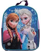"Disney Frozen Girls 11"" Backpack Featuring Princess Anna and Elsa"