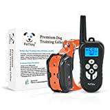 PetSpy Remote Dog Training Shock Collar for Dogs with Beep, Vibration and Electric Shocking, Rechargeable and Waterproof E-Collar Trainer (Black)