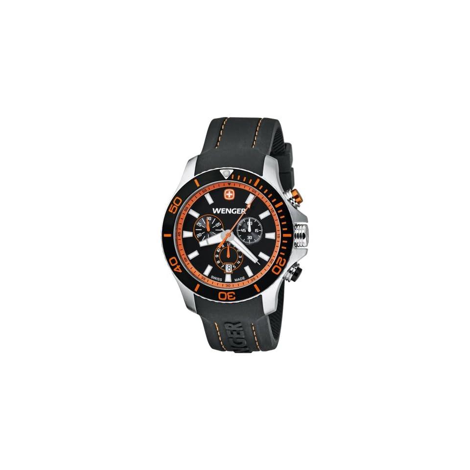 Wenger Mens 0643.104 Analog Display Swiss Quartz Black Watch