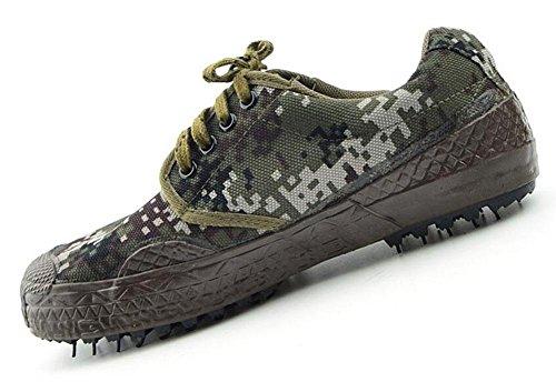 SHIZDC Uomo Scarpe camuffamento di addestramento a bassa Top Sneakers Deserto scarpe da ginnastica militare Formazione Outdoor Training Scarpe scarpe da trekking Outdoor , camouflage , 45