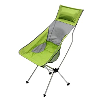 perfk 1 Unidad Silla Plegable Asiento Multiusos Respirable Portatíl Barbacoa Pintura de Naturaleza - Verde