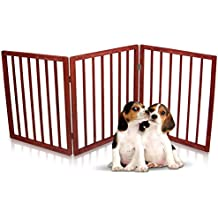 Kleeger Freestanding Folding Indoor Safety Wooden Pet Gate For Home Or Office. No Tools Required, Easy To Set Up