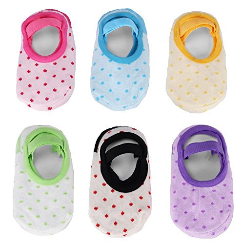 GHB Baby Socks 6 Pairs Anti Skid Slip Socks grip socks for toddlers for 10-36 Months Toddler and Infants