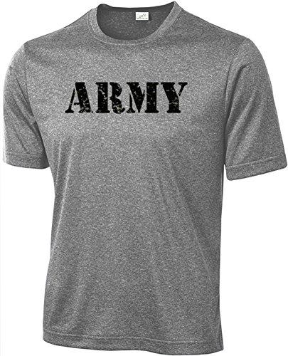 Joe's USA Vintage Army Logo Athletic Physical Training T-Shirts,2X-Vintage