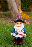 Alpine Americana Gnome with Flag Apron Bird Feeder, 12 Inch Tall For Sale