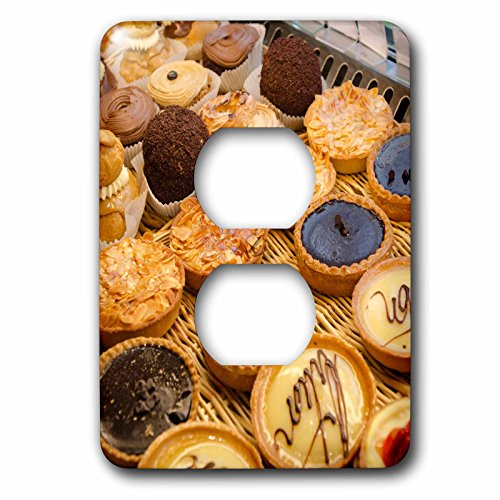 3dRose Danita Delimont - Food - French pastries, Montmartre, Paris, France - Light Switch Covers - 2 plug outlet cover - Outlet Dessert