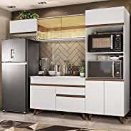 Cozinha Completa Madesa Reims 260001 com Armário e Balcão - Branco