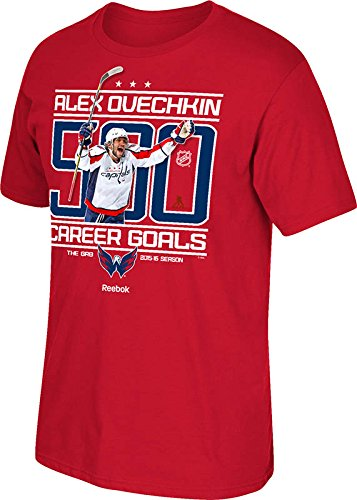 REEBOK ALEXANDER OVECHKIN #8 WASHINGTON CAPITALS RED 500 GOAL CELEBRATION TEE SIZE=2XL