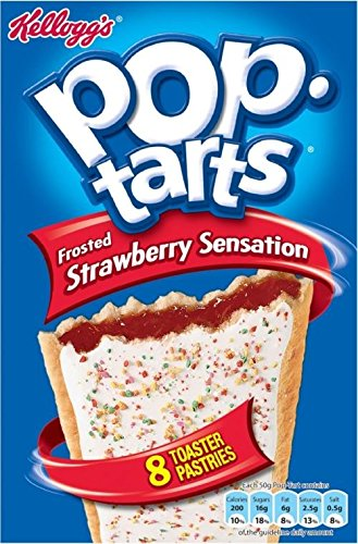 Kellogg's Pop Tarts Strawberry Sensation (8x50g) - Pack of 6