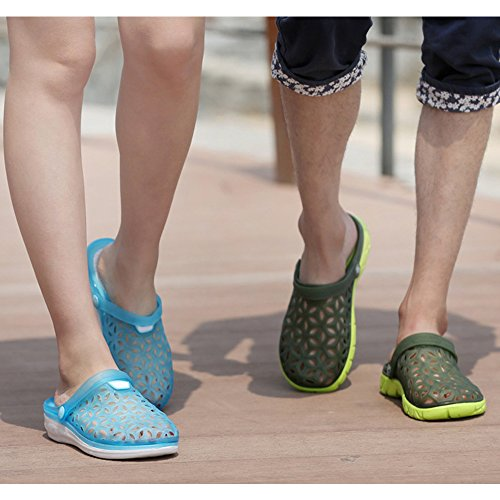 Garden Eastlion Slippers Summer Half Hole Couple Green Jelly Male Shoes Unisex Sandals fBr8fa