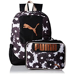 PUMA unisex-child Puma Kid's Lunch Box Backpack Combo