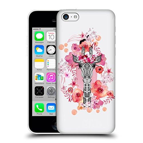 Officiel Monika Strigel Girafe Animaux Et Fleurs 2 Étui Coque D'Arrière Rigide Pour Apple iPhone 5c