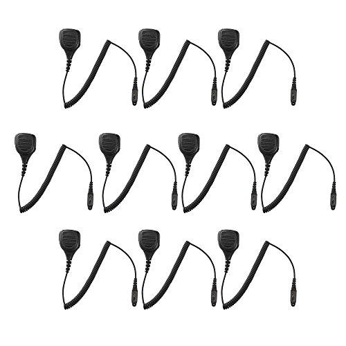 10 Pack Maxtop APM250-H3 IP56 Waterproof Shoulder Speaker Microphone for Hytera HYT TC-780 TC-780M TC-3000