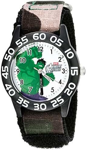 Marvel Kids' W002620 Hulk Time Teacher Analog Display Analog Quartz Black Watch