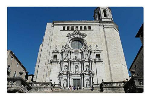 Cathedral Santa - Tree26 Indoor Floor Rug/Mat (23.6 x 15.7 Inch) - Cathedral of Santa Maria Santa Maria Baroque