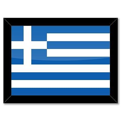 Marco de Póster: diseño de la bandera de Grecia HELLAS HELLENIC ...