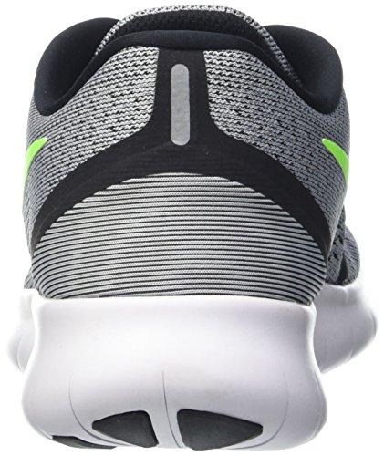 Chaussure De Course Nike Homme Rn Gratuite (6.5 B (m) Us, Pure Platine / Électrique Vert / Anthracite)