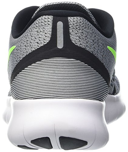 Nike Mens Free Rn Pure Platinum/Elctrc Grn/Anthracite Running Shoe 8 Men US by Nike (Image #2)