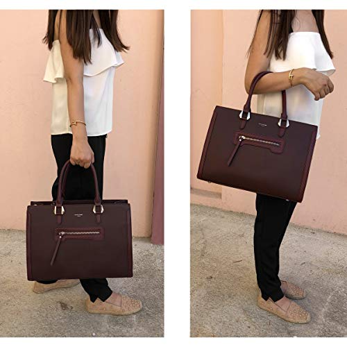 PU Elegant Bag Satchel Handbag Travel Crossbody Tote Women's Jones Work Leather Shopping Top Large Grey Shoulder Large Students David Capacity Handle Shopper Bag Briefcase Grey School xZIqx8