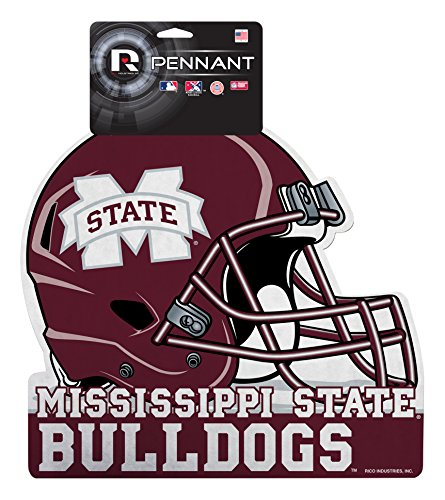 Rico Industries NCAA Mississippi State Bulldogs Football Helmet Die Cut Pennant Décor