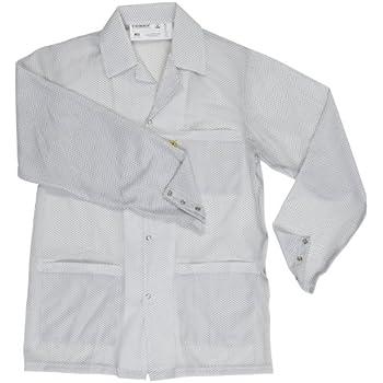 Teal Large 30-1//2 Length DESCO 73843 Polyester Smock Statshield Jacket with Snaps