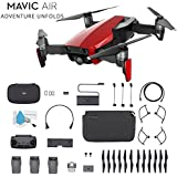 DJI Mavic Air Foldable Quadcopter Fly More Combo (Flame Red) CP.PT.00000174.01