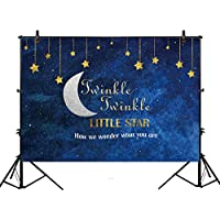 Allenjoy 7x5ft photography backdrop background Twinkle Twinkle Little gold Glitter star Birthday party banner Newborn props photo studio booth baby shower photocall