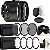 Nikon AF-P DX NIKKOR 18-55mm f/3.5-5.6G VR Lens for Nikon DSLR Cameras with Accessory Kit
