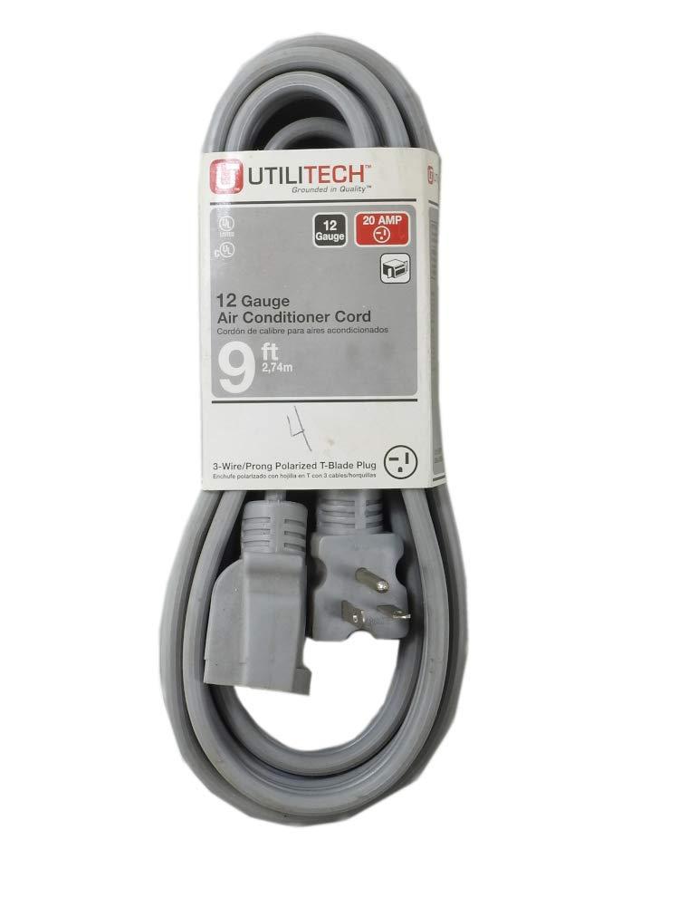 20 Amp Utilitech 12 Gauge Air Conditioner Cord 9 Ft