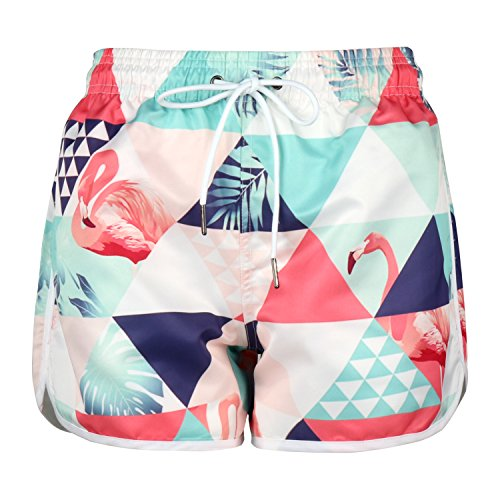 Mens Casual Quick Dry Drawstring Printed Swimsuit Beach Board Shorts Happy Halloween Night