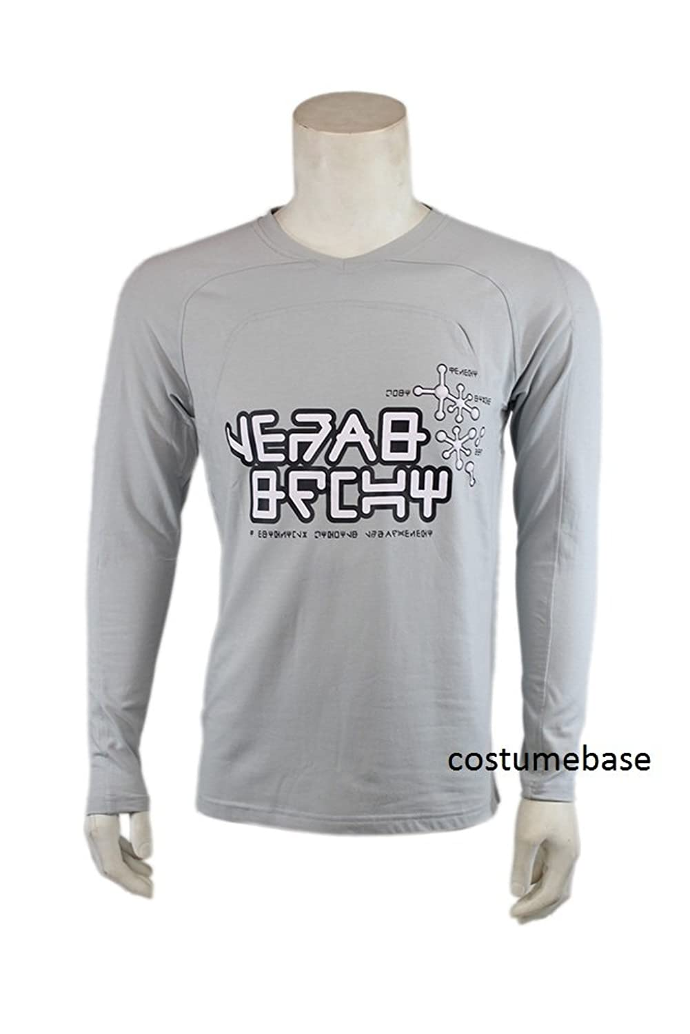 Men's Star Lord Peter Quill Gray Klyn Print T-shirt - DeluxeAdultCostumes.com