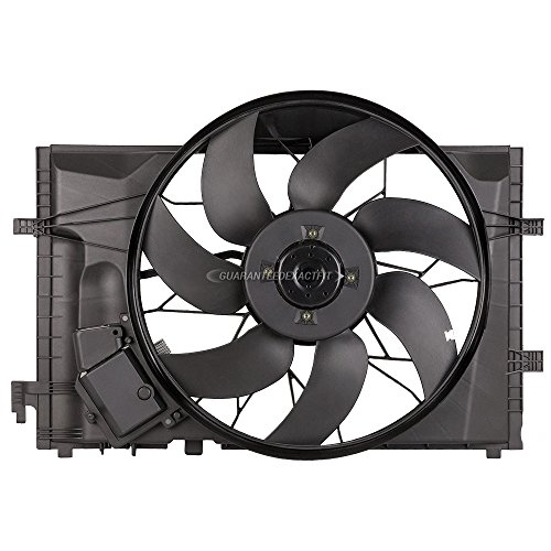 A/c Radiator Cooling Fan (Brand New Radiator Or Condenser Cooling Fan Assembly For Mercedes C & CLK Class - BuyAutoParts 19-20688AN New)