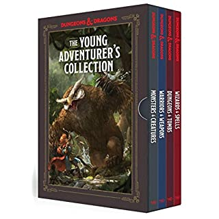 The Young Adventurer's Collection [Dungeons & Dragons 4-Book Boxed Set]: Monsters & Creatures, Warriors & Weapons, Dungeons & Tombs, and Wizards & Spells (Dungeons & Dragons Young Adventurer's Guides)