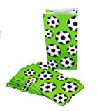 12 Soccer Print Bags Party Favor Loot Candy
