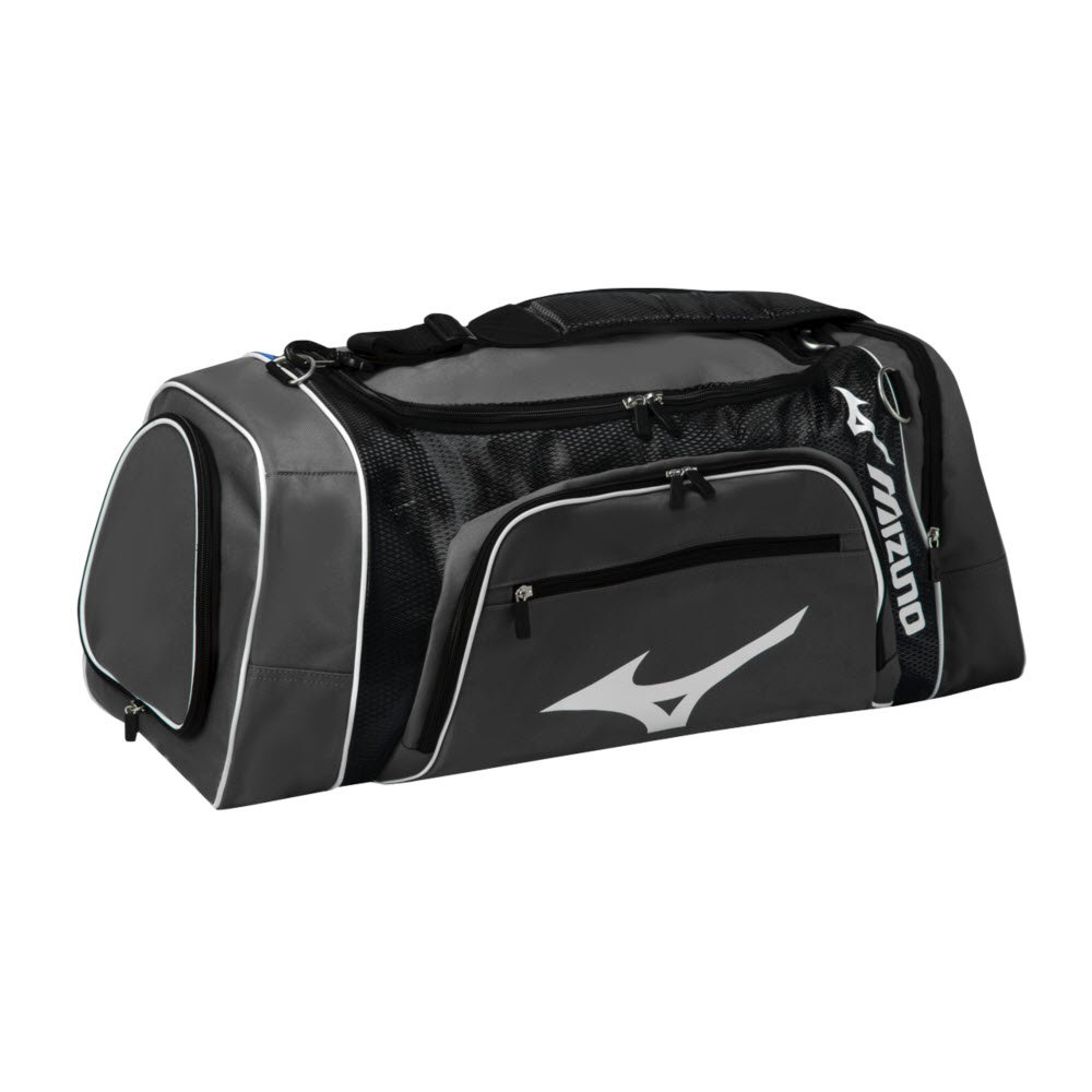 Mizuno Lightning Duffle Bag, Grey/Black