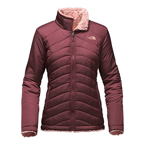 The North Face Mossbud Swirl Reversible Jacket Women's Deep Garnet Red/Rose Dawn Tipped Medium