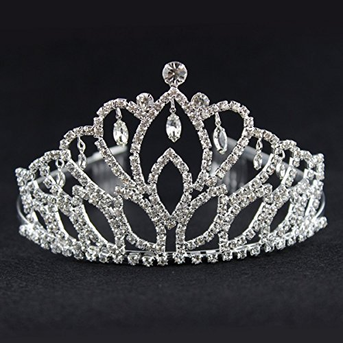 Price comparison product image Elegant Tiara Crystal Hair Crown - Rhinestones Heaband for Queen, Bridal, Princess in Wedding, Party and Birthday 1-2 - by NIPOO