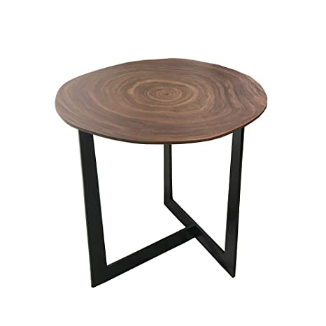 Table Basse Bois Et Fer Forge.Ynn Table Basse De Salon En Bois En Fer Forge Table D